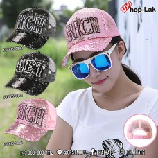 "Fashion cap  Lace Sequin Cap With  Belt Embroidered  ""RICE"" & ""LET"" .Cap have 2 Colors NO.F5Ah15-0800"