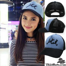 Mesh cap mesh netting Jet set CAP blue mesh black on the back is SNAPBACK adjustable side. No.F1Ah15-0375