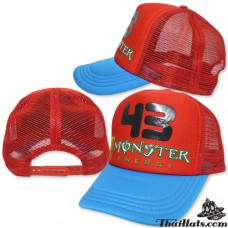 Sponge cube mesh melt Hat mesh MONSTER 43 red wings No.F5Ah15-0011