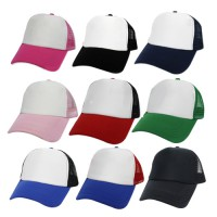 Sponge mesh cap, white mesh, red wings, blue back, adjustable side. No.F5Ah15 0172