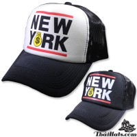 NEW YORK NET CAP Mesh Snapback Back, Available in 2 Colors No.F5Ah15 0155