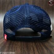 Embroidered cap Sponge mesh mesh 2 bars DEUS Wing Department net mesh white. Behind the SNAPBACK side. No.F1Ah15-0566