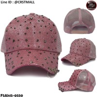 Mesh cap with diamond hook The back is used to adjust the side of the pink.F5Ah15-0550.