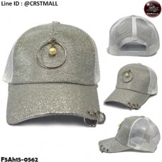 Mesh mesh cap with a silver bow on the back of the fins. No.F5Ah15-0562