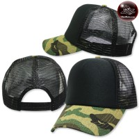 Military helmet cap, sponge, mesh military wings, black face black No.F5Ah15-0369