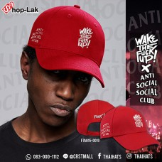 Fashion Cap  Belt Cap Embroidered Wake The Fuck Up # Red No.F7Ah15-0019