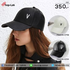 "Leather Belt Cap Embroidered ""V"" .Cap have 2 Colors.No.F5Ah15-0798"