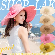 LADY hat, wide-brimmed fabric, wide-brimmed hat, woman's hat, smooth edge, NO. F5AH18-0153