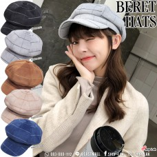 Scotch pumpkin beret with elastic fabric on the back. Beautiful Vintage Pumpkin Hat Korean Style No.F5Ah30-0073
