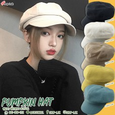Pumpkin style ramie hat, Newsboy Cap. The fabric is soft. Can wear all sizes of heads There is a cable to adjust the inside size, 5 colors No, F5Ah30-0078