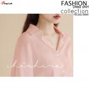 Dress shirt, long sleeve dress, shirt, front button dress Long shirt, long dress, light fabric, easy to wear, NO. F5CS02-0067