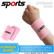 Sweat-wicking wrist band during exercise, embroidered with SPORT No.F7Aa35-0189