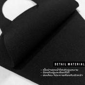 ผ้าปิดปาก/ปิดจมูกแฟชั่นตัวอักษรฟองน้ำ มีตั่งแต่ A~Z ผ้านิ่ม ใส่สบายสีดำ No.F7Ac25-0135