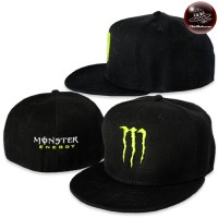 Full size hip-hop hat M Monster, hip-hop style hat, Monster style, beautiful straight brim hat No.F7Ah47-0045