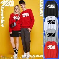 Round neck sweater, long sleeve, lint, MAD pattern sweater, beautiful IDENGO brand European style No.F7Cs01-0095.
