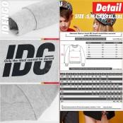 Sweatshirt: Round neck sweater, IDG pattern, lint sweater, beautiful brand in IDENGO style, European style No.F7Cs01-0119