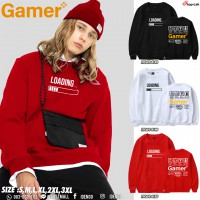 Gamer pattern lint long-sleeved shirt. Beautiful European sweaters. Gamers should have Sweatshirt Gaming No.F7Cs01-0143.