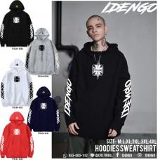 HOODIE flex hoodie sweatshirt with IDENGO Old School pattern (glow in the dark) No.F7Cs04-0200