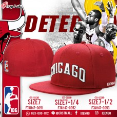 HipHop hat, full of red, American style Basketball ball or hip hop pattern CHICAGO No.F7Ah47-0051