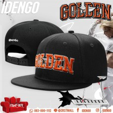 "Hip-hop cap, embroidered logo ""GOLDEN"", ​​hip hop hat, SNAP BACK, cool pattern in IDENGO style, logo sharp, beautiful lines NO.F7AH47-0070"
