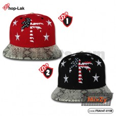 HipHop star embroidered hat + coconut # Flag Available in 2 colors No.F5Ah47-0158