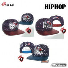 Hip hop hat ICECREAM pattern spot No.F5Ah47-0173
