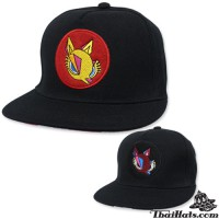 """HipHop hat with rounded logo """"Red Fox"""" with 2 colors No.F5Ah47-0144"""