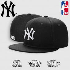HIPHOP FULL HIPHOP NY Hat, Black, White Embroidery, 3 SIZE Product No.F1AH47-0353