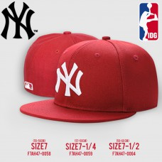 HIPHOP  Cap HIPHOP Hat Logo  NY Hat, Red, White Embroidery, All products are 3 SIZE NO. F7Ah47-0058
