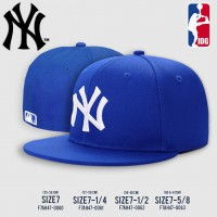 HIPHOP  Cap HIPHOP Hat Logo  NY Hat, Blue, White Embroidery, All products have 4 SIZE NO. F7Ah47-0060
