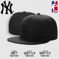 HIPHOP hat, full Cap , black HIPHOP hat, NY logo, black embroidery, all 3 SIZE NO. F1Ah47-0418