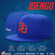 "HipHop hat,  Blue Color , cool style ,Hiphop stlye By  IDenGo pattern,  Logo ""IDG"" No. F7Ah47-0054"