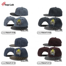 HipHop hat embroidered cat star wings. There are 4 colors. No.F5Ah47-0108
