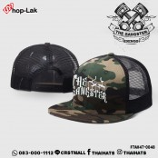 HipHop cap, black mesh, military pattern #THE GANGSTER .No.F7Ah47-0048