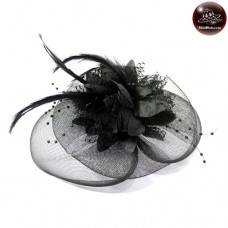Hair clipper hat black vintage hat No.F5Aa33-0009