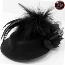 Bead Hat Earrings + Diamond Hats, caps, hats, feathers Hair clipper hat black vintage hat No.F5Aa33-0007