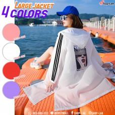 Long-sleeved jacket, shade cloth, hooded sleeves, colorful printed pattern, No.F5Cs04-0666