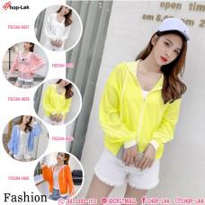 Long-sleeved jacket, umbrella fabric with hood, 3 stripes, SHRPFME, beautiful coat, lovely, soft color, beautiful No. F5Cs04-0657