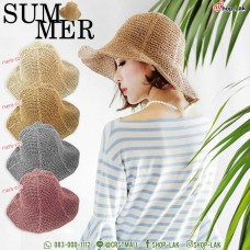 Lady Hat, Wide-brimmed hat, small and tall  shape, made from natural material, comfortable to wear, not awkward, sweat absorbing