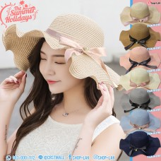 Women's hat, LADY hat, wave wave weave Fitted with a cute bow tie. No. F5Ah18-0146
