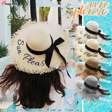 "LADY hat, wide-brimmed hat, wide-brimmed hat, beautiful pattern, ""Sun Please"" No. F5Ah18-0149"
