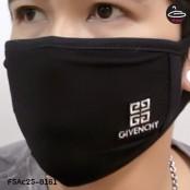 ผ้าปิดปากสีดำลาย Givenchy  No.F5Ac25-0161