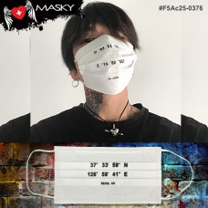 Gagging White Nose White gag Fashion White Face Mask, Carbon Fiber No.F5Ac25-0376