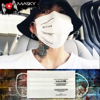 Gagging White Nose White gag White Fashion Care Mask Care Label Carbon Fabric No.F5Ac25-0377