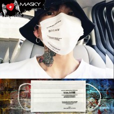 Gagging White Nose White gag White Fashion Care Mask Care Label Carbon Fabric No.F5Ac25-0377