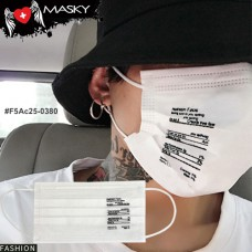 Gagging White Nose White gag White Fashion Health Care Mask, Non-Woven Fabric, Carbon Fiber No.F5Ac25-0380