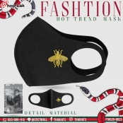 Sponge, black velvet lining, bee tiger, soft fabric, washable inside with filter. No.F7Ac25-0021