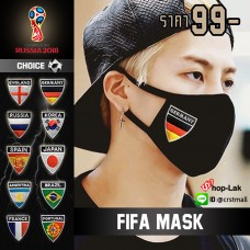 Mask Anti-Dust, smoke, pollution, PM2.5, Korean fashionable fabric have embroidered the national World Cup teams For RUSSIA 2018