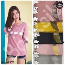 Long sleeve shirt Long Sleeve T-Shirt Screen Printed Cat No.tsh-0275