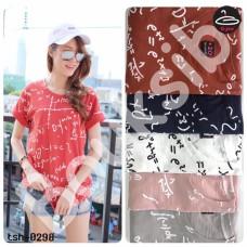 "Short Sleeve Shirt"" Fruit pattern ""   Short Sleeve T-Shirt Women's "" Geometric "" with 5 Colors No.tsh-0298"